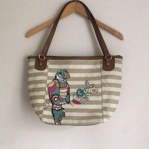 Relic brand shopper bag w/ bird detail
